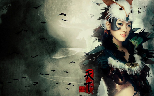 warrior-japanese-girl-wallpaper-1680x1050